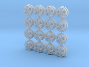 VW Detroit Wheels 9 MM OD - four sets in Smoothest Fine Detail Plastic