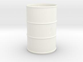 Barril-Golpeado+Bomba-18-proto-01 in White Processed Versatile Plastic