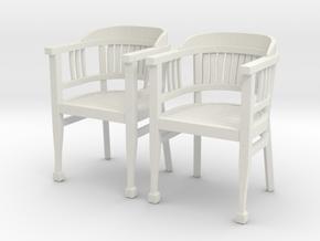 ArmChair 04.1:24 Scale in White Natural Versatile Plastic