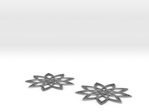 Nine-Point Wire-Star Earring in Natural Silver