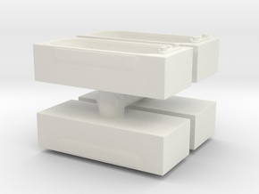 Modern Bath (x4) 1/100 in White Natural Versatile Plastic