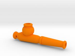 Tobacco Pipe Keychain in Orange Processed Versatile Plastic