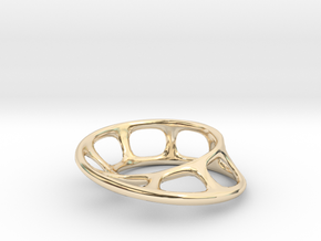 Wired Möbius Strip in 14K Yellow Gold