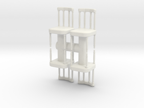 Antique Chair (x4) 1/48 in White Natural Versatile Plastic