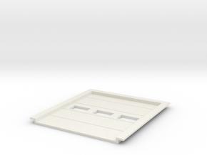 1:50 Overhead Door 2.5x3m in White Natural Versatile Plastic