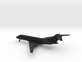 Bombardier Global Express XRS in Black Natural Versatile Plastic: 1:400
