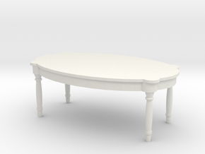 Antique Table 1/43 in White Natural Versatile Plastic