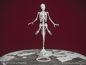 Mermaid Skeleton in White Strong & Flexible