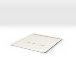 1:50 Overhead Door 4x4.5m in White Natural Versatile Plastic