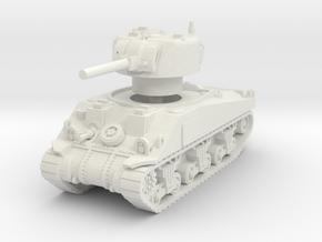 Sherman V tank 1/56 in White Natural Versatile Plastic