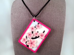 Cherry Blossom Pendant in Natural Full Color Sandstone