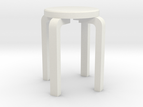 Printle Thing Chair 031 - 1/24 in White Natural Versatile Plastic