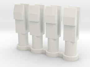 KYOSHO TRIUMPH STOPPER POST  in White Natural Versatile Plastic