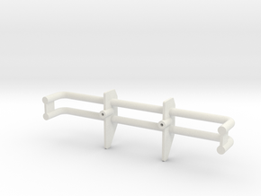 Kyosho Double Dare Front Bumper in White Natural Versatile Plastic