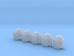 Minotaurs Indo Terminator Shoulder Pads w laurel in Smooth Fine Detail Plastic