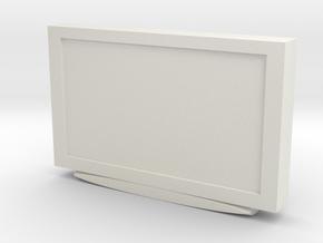 Television 1/43 in White Natural Versatile Plastic