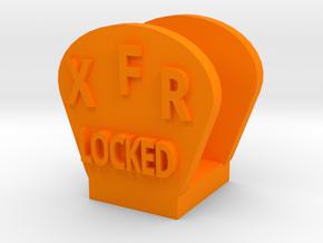 CRC1008 Diff Lock Switch Protector TRX-4 TQi Radio in Orange Processed Versatile Plastic