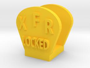 CRC1010 Diff Lock Switch Protector TRX-4 TQi Radio in Yellow Processed Versatile Plastic
