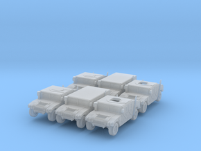 1/220 HMMWV 6 cars set in Smoothest Fine Detail Plastic