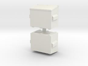 Dumpster (x2) 1/87 in White Natural Versatile Plastic