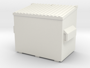 Dumpster 1/76 in White Natural Versatile Plastic