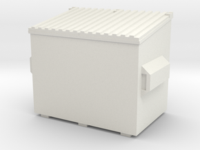 Dumpster 1/56 in White Natural Versatile Plastic