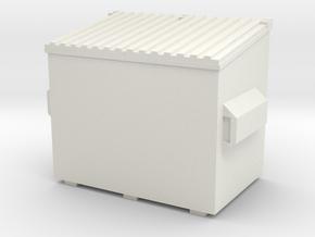 Dumpster 1/48 in White Natural Versatile Plastic