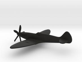 Supermarine Spitfire F Mk.XIV (w/o landing gears) in Black Natural Versatile Plastic: 1:160 - N