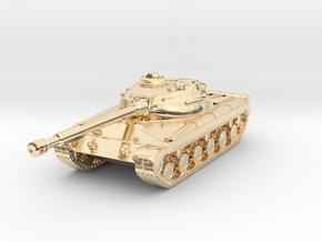 Tank - T-64 - Object 430 - scale 1:160 in 14K Yellow Gold