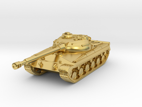 Tank - T-64 - Object 430 - scale 1:160 in Polished Brass
