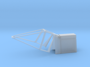1/32 TOS Colonial Viper Hinged Cockpit Canopy  in Smooth Fine Detail Plastic