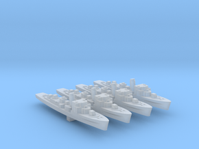 4pk German M1943 Minesweeper 1:3000 WW2 in Smoothest Fine Detail Plastic