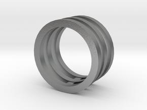Innovation inspired rings 14-karat roses gold ring in Natural Silver