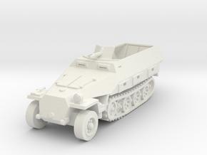 Sdkfz 251 D1 1/100 in White Natural Versatile Plastic