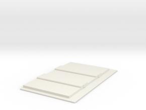 Concrete Art Deco Bridge Abutment (N scale) in White Natural Versatile Plastic