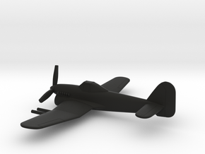 Hawker Typhoon (w/o landing gears) in Black Natural Versatile Plastic: 1:160 - N