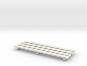 Baluster Railing 01. 1:64 Scale  in White Natural Versatile Plastic