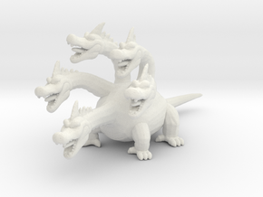 Dragon Quest King Hydra DnD miniature fantasy game in White Natural Versatile Plastic