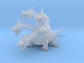 Dragon Quest King Hydra DnD miniature fantasy game in Smooth Fine Detail Plastic