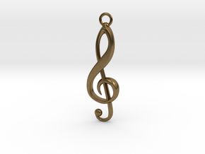 Violin Key Pendant in Natural Bronze
