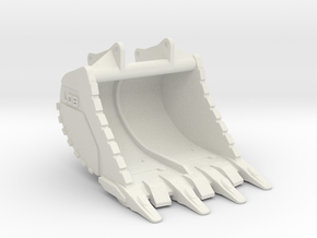 Fundamentlöffel OQ90 / fundament bucket OQ90 - 50t in White Natural Versatile Plastic: 1:50
