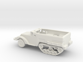 1/160 Scale M2A1 Halftrack for war gaming in White Natural Versatile Plastic