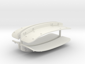 EC 135/145 Outer stabilizer brackets 1/8 (Roban) in White Natural Versatile Plastic