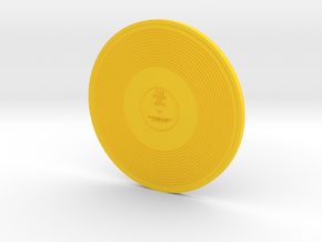 Voyager Golden Disk in Yellow Processed Versatile Plastic: Large