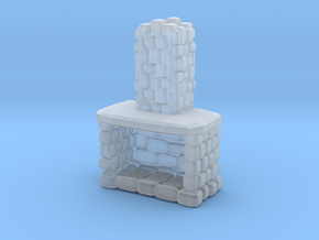 Stone Fireplace 1/48 in Smooth Fine Detail Plastic