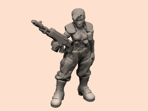 28mm SciFi Empire Guards sergeant  in Smoothest Fine Detail Plastic