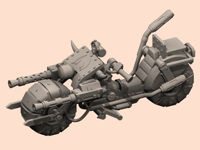 28mm space orc bike in White Processed Versatile Plastic
