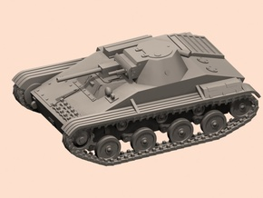 28mm T-60 tank (fixed turret) in White Processed Versatile Plastic