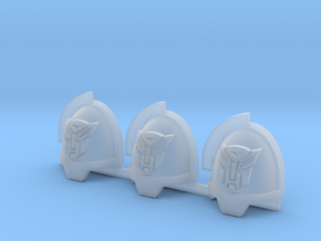Red Robots Aggressive shoulder pads x3L in Smooth Fine Detail Plastic