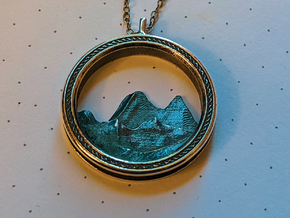 Mountain Pendant in Antique Silver
